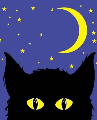 Halloween Black Cat Glowing Eyes Bright Moon School Composition Book 130 Pages  (notebook, Diary, Blank Book)