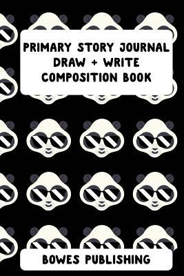 Primary Story Journal Draw + Write Composition Book  Cute Panda Notebook for Draw & Write Grade Level K-2