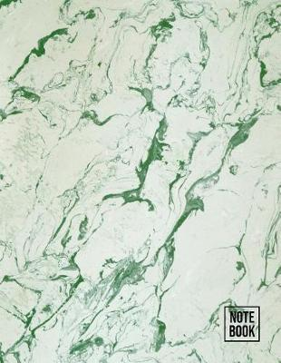 Notebook  Green Marble Composition Note Book College Ruled Line Paper Texture Style Design (Large 8.5 x 11)