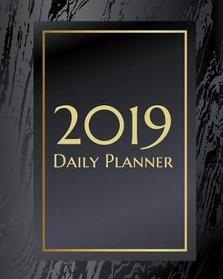 2019 Daily Planner  An Elegant Black and Gold Marbled Texture Makes This Weekly Calendar a Great Addition to Any Business or Student Life.