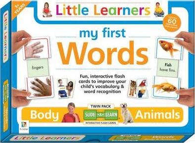My First Words Body and Animals Slide and Learn Flashcards