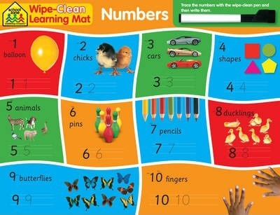 School Zone Wipe Clean Learning Mats: Numbers