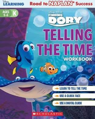 Disney Learning Workbook: Finding Dory Telling the Time Level K