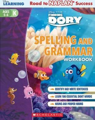 Disney Learning Workbook: Finding Dory Level K Spelling and Grammar