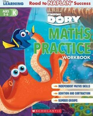 Disney Learning Workbook: Finding Dory Level K Maths Practice