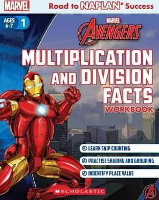 Marvel Workbook: Avengers Level 1 Multiplication and Division Facts