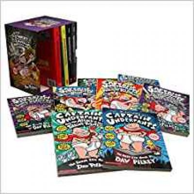 Captain Underpants (Books 1-12) Slipcase