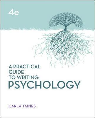 A Practical Guide to Writing: Psychology 4E