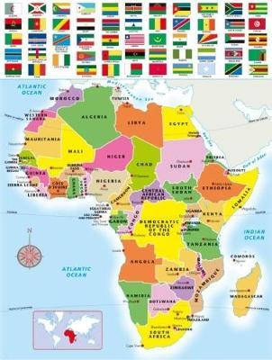 300 piece Africa jigsaw puzzle : Map Studio : 9781770269071