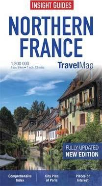Insight Travel Map: Northern France