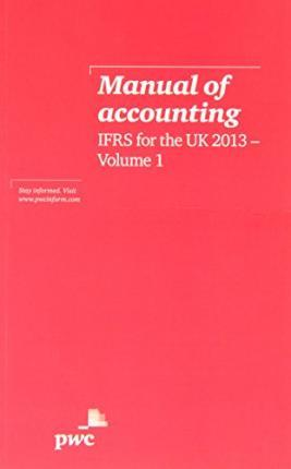 Manual of Accounting, IFRS for the UK 2013