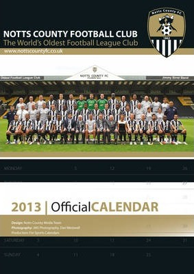 Official Notts County FC 2013 Calendar