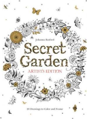 Secret Garden Artists Edition 20 Drawings To Color And Frame US