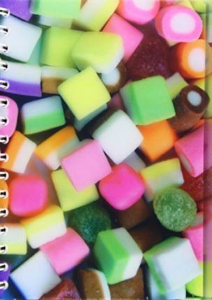 DOLLY MIXTURES A5 NOTEBOOK