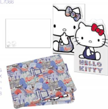 HELLO KITTY LIB LONDON DIE CUT NOTECARDS