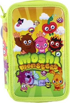 MOSHI MONSTERS 2 TIER FILLED PENCIL CASE