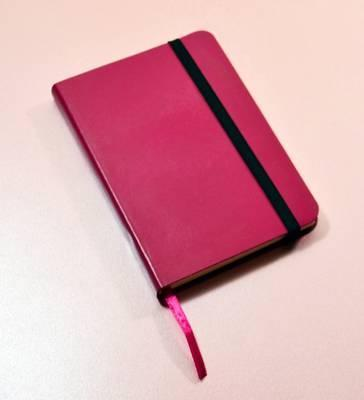 Monsieur Notebook Leather Journal - Pink Ruled Small A6