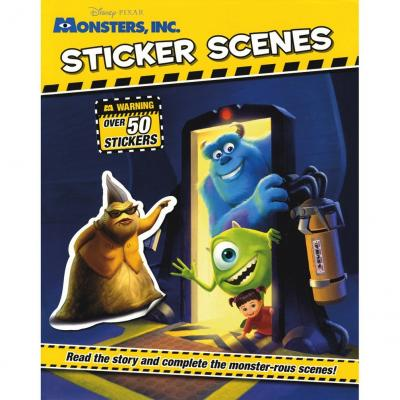 Disney Monsters Inc Sticker Scene