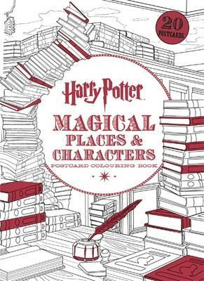 Harry Potter Magical Places Characters Postcard Colouring Book