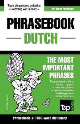 English-Dutch Phrasebook and 1500-Word Dictionary Cover Image