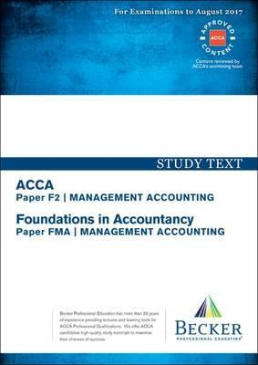 ACCA Approved - F2 Management Accounting (FIA: FMA) : Becker