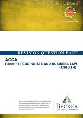ACCA Approved- F4 Corporate & Business Law : Becker Professional