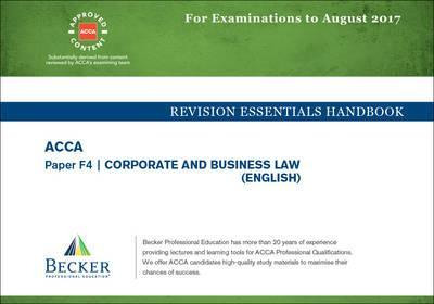 ACCA Approved - F4 Corporate & Business Law : Becker Professional