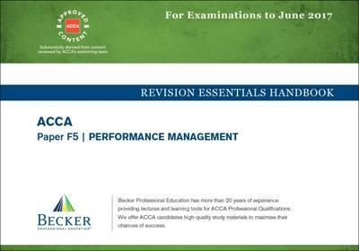 ACCA Approved - F5 Performance Management : Becker