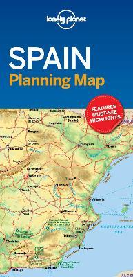 Coast Of Spain Map.Lonely Planet Spain Planning Map Lonely Planet 9781787014527