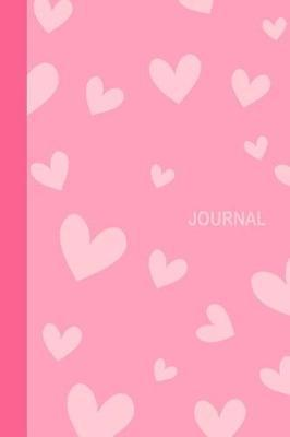 Journal  Pale Pink Love Hearts Diary & Writing Notebook Daily Diaries for Journalists & Writers Use for Note Taking Write about Your Life & Interests