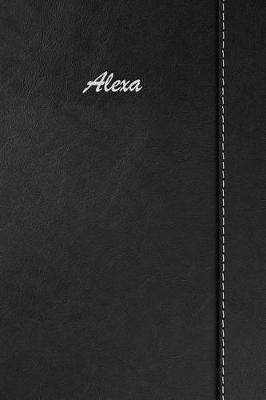 Alexa  Simulated Leather Notebook Journal Diary Sketchbook with Lined Pages