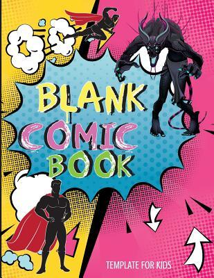 Blank Comic Book Template for Kids  For Drawing Your Own Comics Idea and Design Sketchbook Basics for Children Stickers Download Inside the Book Can You Printable