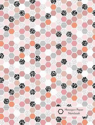 Hexagon Paper Notebook  1/4 Inch (0.25 In) Hex Graph Paper, 7.44 X 9.69, 50 Sheets / 100 Pages, Pink and Black