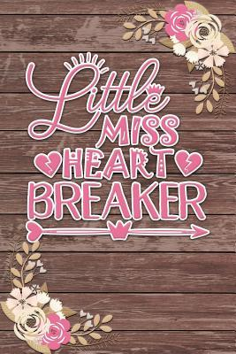 Little Miss Heartbreaker  Ruled Notebook / Lined Journal Romantic Gift Shabby Chic Boho Valentines Gifts
