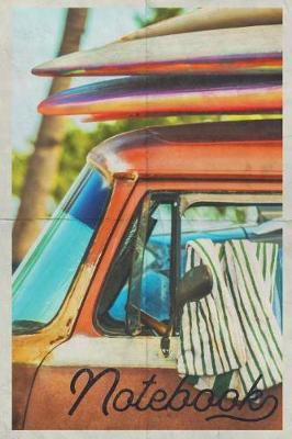 Notebook  Camper Van Conversion Chic Composition Book Journal Diary for Men, Women, Teen & Kids Vintage Retro Design Surf Adventures