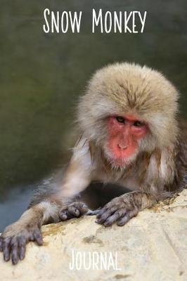 Snow Monkey Journal  6x9 Inch Lined Journal/Notebook I Love Hot Spring - A Beautifully Photographed Snow Monkey in Japan