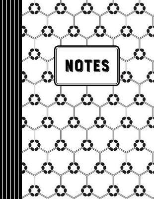 Notes  Staff Paper Songwriting Journal / Musical Note Hexagon Pattern / Paperback Notebook Full of Blank Manuscript Paper (Staff-Lined), 10 Staves Per Page