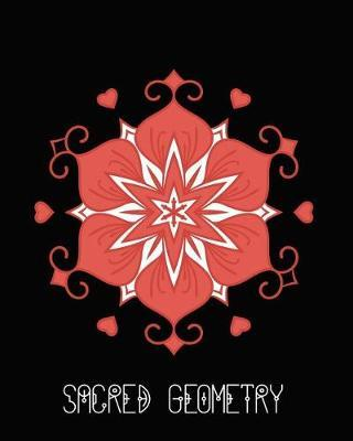 Sacred Geometry  Hearts and Clubs Mandala Art Journal Cover, Cornell Lined Notebook . Geometric Design for Yoga, Meditation, Dream Diary or Notes for Work or School.