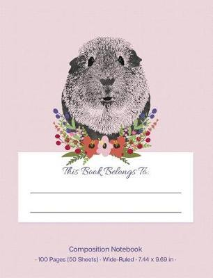 Composition Notebook  Pink Cute Guinea Pig Wide Ruled Notebook Creative Writing Journal