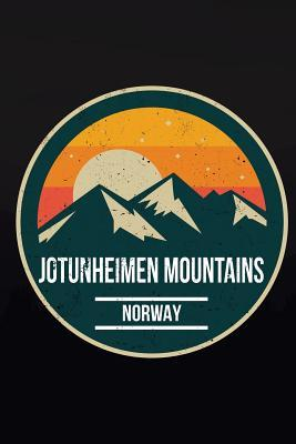 Jotunheimen Mountains Norway  6x9 Inch Travel Size 120 Pages Lined Journal / Notebook.