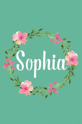 Sophia  Personalized Name Floral Composition Notebook Journal for Girls and Women