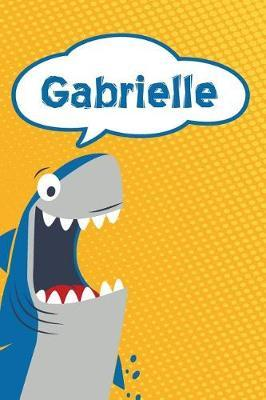 Gabrielle  Personalized Shark Draw and Write Diary Journal Notebook Featuring 120 Pages 6x9