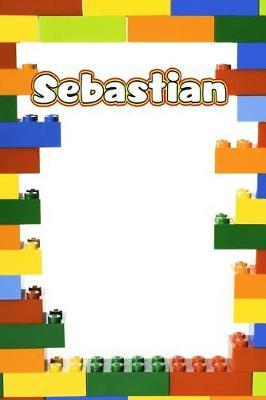 Sebastian  Personalized Building Brick Draw and Write Practice Paper Journal, Diary Notebook, Log Featuring 120 Pages 6x9