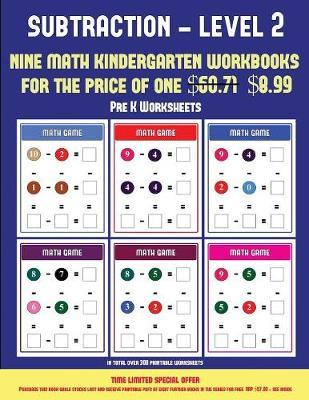 Pre K Worksheets Kindergarten Subtraction Taking Away Level