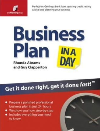 Business Plan In A Day Rhonda Abrams 9781841128047