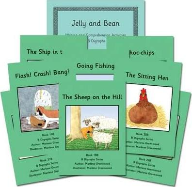 B Digraphs Books 17-24 Reading and Writing Package