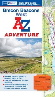 Brecon Beacons (West) Adventure Atlas : Geographers A-Z Map ... on submarine map, meteorologist map, artist map, the national map, explorer map, ptolemy map,