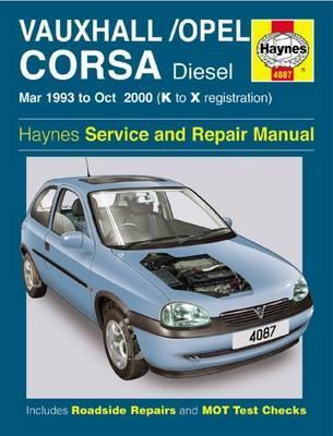 vauxhall opel corsa diesel mar 93 oct 00 k to x haynes rh bookdepository com opel corsa 2005 service manual Old Opel Corsa
