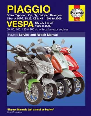 Piaggio and Vespa Scooters (with Carburettor Engines) Service and Repair Manual