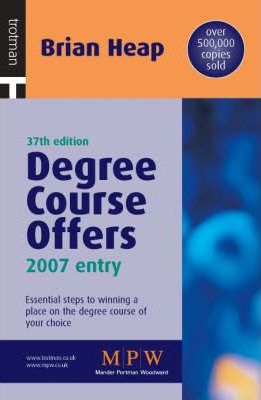 Degree Course Offers: 2007 Entry